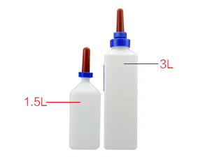plastic calf milk bottle