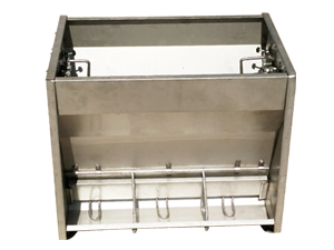 Automatic pig feeder with stainless steel